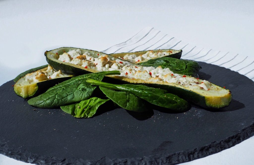 Zucchini-Feta-Schiffchen