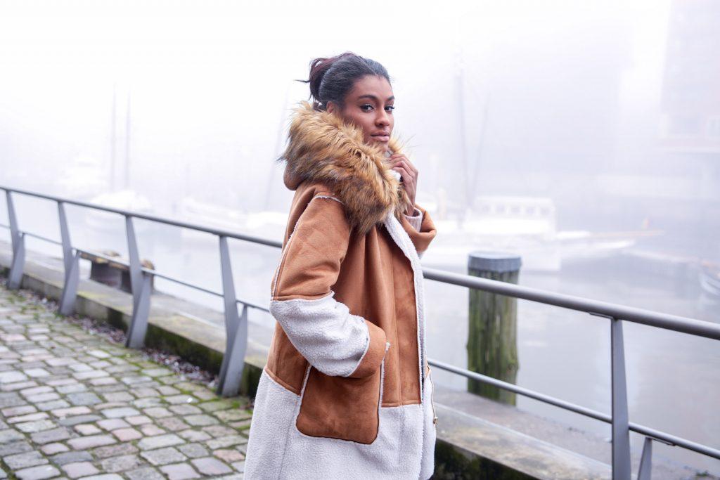 Sale – Letzte Größen! Zara Mantel in Wildlederoptik!